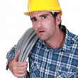 Plumber looking stunned — Stock Photo #14273525