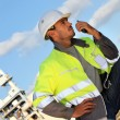 Traffic guard speaking into his walkie talkie — Stock Photo #14278193