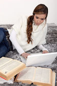 Young woman studying — Stock Photo