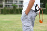 Slingshot in pocket — Stock Photo