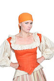 Woman dressed as maidservant — Foto Stock
