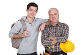 Younger and older men — Stock Photo