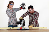 Do it yourself : couple — Stock Photo