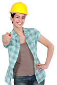 Tradeswoman with a can-do attitude — Stock Photo