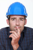 Closeup of a pensive man — Stock Photo