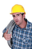 Plumber looking stunned — Stock Photo