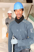 Portrait of a tradesman — Stock Photo