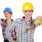 Two female carpenters — Stock Photo #14553501
