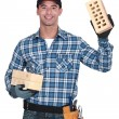 Portrait of a bricklayer — Stock Photo #14553581