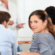 Teenagers in class — Stock Photo #14555349