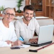 Helping older — Stock Photo