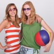 Girls equipped for the beach — Stock Photo #14557787