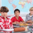 Young boys in a classroom - Stockfoto