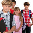 Group of children at school - Stock Photo