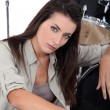 She plays drums — Stockfoto #14558979