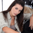 Stockfoto: She plays drums