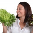 Womwith salad heads — Stock Photo #14559305