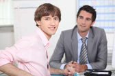 Young man at a job interview — Stock Photo