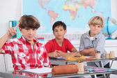 Young boys in a classroom — Stock Photo