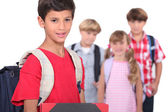 Children on the first day of school — Stock Photo
