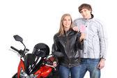 Biker-Ergebnis-Führerschein — Stockfoto