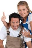 DIY couple — Stock Photo