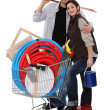 Couple buying DIY materials — Stock Photo #14560273