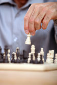 Closeup of a chess game — Stock Photo