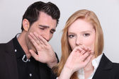 Yawning couple — Stock Photo
