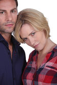 Couple looking angry — Stock Photo