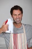 Aggressive chef — Stock Photo