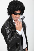 Man dressed as a rock-star — Stock Photo