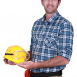 Stock Photo: Happy workman
