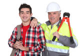 Father and teenage son — Stock Photo