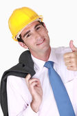 Engineer giving his stamp of approval — Stock Photo