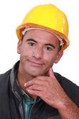 Portrait of a satisfied tradesman — Stock Photo