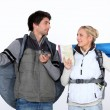 Couple going on hiking trip — Stock Photo #14612281