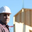 Foreman on site — Stock Photo