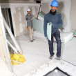 Stock Photo: Duo of plasterers