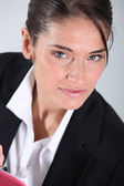 Businesswoman close-up — Stock Photo