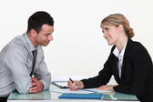 Recruiter and applicant — Stock Photo