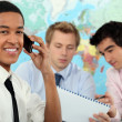 Stock Photo: Young businessman on an educational training