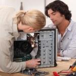Repairing computer — Stock Photo #14665609