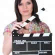 Female director — Stock Photo