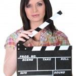 Female director — Stock Photo