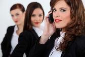 Three attractive business women — Stock Photo
