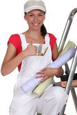 Woman decorating — Stock Photo