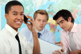 Young businessman on an educational training — Stock Photo