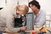 Repairing computer — Stock Photo