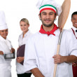 Restaurant staff — Stock Photo #14670523